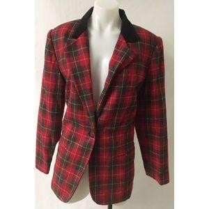 Gray/Red Plaid Blazer Size 10